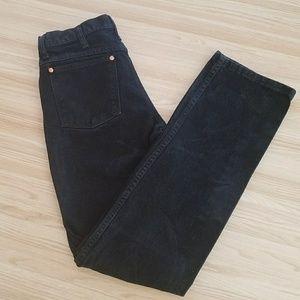 Vintage Wrangler Black Denim Boot Cut Jeans 30x34